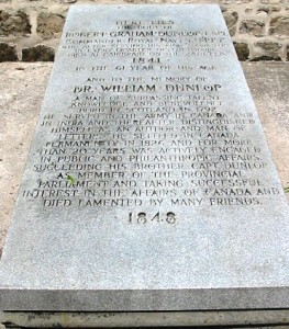 Dunlop gravestone