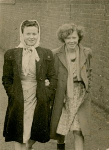 Jean with her friend and workmate, Rose