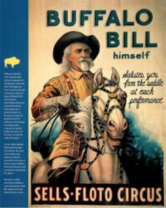 Buffalo Bill Wild West Show Art Print Poster