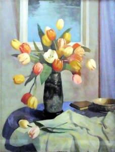 george telfer bear - tulips in mclean